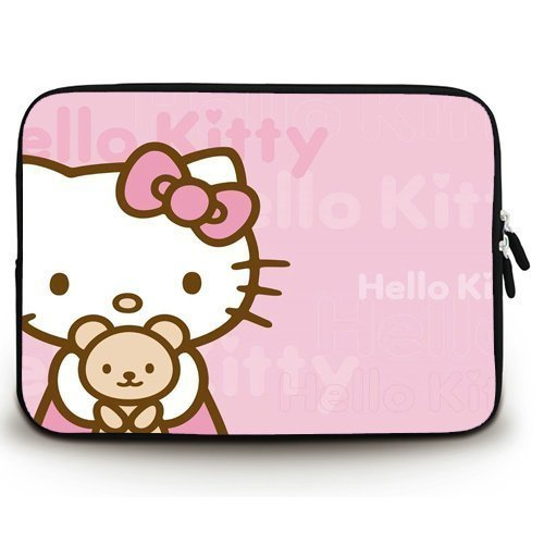 Angelinana Hello Kitty Custom Computer Bag Notebook Cover Bag Laptop Sleeve Case Water Resistant for 13 inch(Twin Sides)