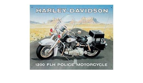Harley Davidson Moto de Policía Cartel: Amazon.es: Hogar