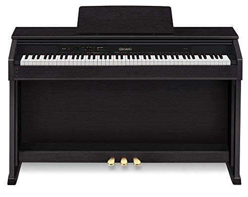 Casio C.e.l.v.i.a.n.o AP-460 88 Keys Weighted Scaled Hammer Action, Tri-Sensor Keys Ivory Touch Digital Piano with 20W+20W (2-Way, 4-Speaker) and AiR Sound Source (Black Wood Tone Finish)