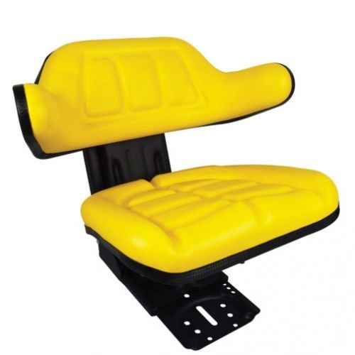 Seat Assembly Grammer Style Vinyl Yellow John Deere Ford Massey Ferguson FIAT Massey Harris 4000 2000 2040 2030 40 2020 1020 135 165 2355 4110 830 3000 2440 5610 6610 2640 820 30 2750 2350 6600 7610 All States Ag Parts