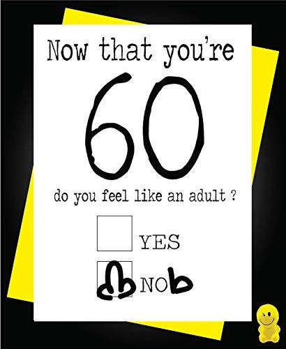 Tarjeta de 60 cumpleaños divertida - 60 Sixty Now Youre 60 ...