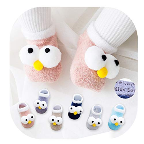 Low Cut Anti Slip Grip Fluffy Slippers for Baby Kids Boys Girls 6 Pairs Toddler Non Skid No Show Socks (1-2 Years, A)