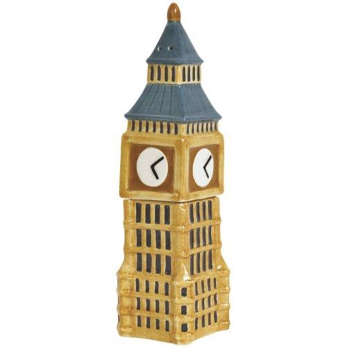 Westland Giftware Magnetic Ceramic Salt and Pepper Shaker Set, Mwah Big Ben, 4.5-Inch, Set of 2