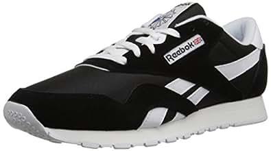 Reebok Men's Classic Sneaker, Black/White, 6.5M