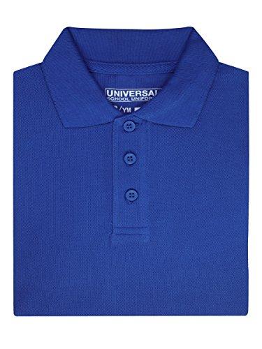 Children's Long Sleeve Pique Polo Shirt - Royal Blue,