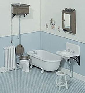 Dollhouse Miniature Victorian Bathroom ChrysnbonR Kit