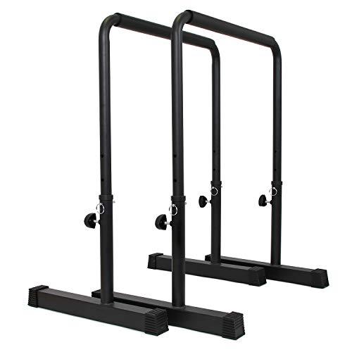 POWER GUIDANCE Dip Bar Dipstandaarden – Verstelbare hoogte 76cm – 98cm Krachttraining voor het hele lichaam 3 kleuren