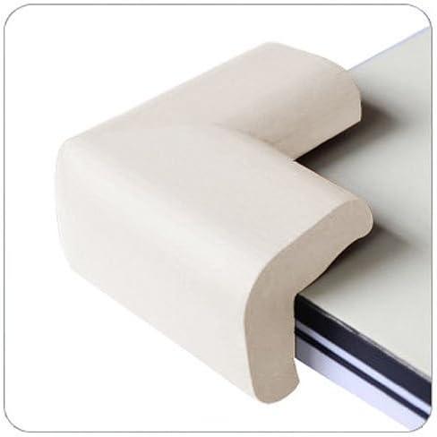 Sonline 4 x Eckenschutz - Schreibtisch Tisch COVER PROTECTOR - SAFE FueR KIND-Weiss