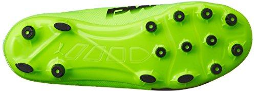 Puma Evopower Vigor 3 AG Jr, Botas de Fútbol Unisex Niños Verde (Green Gecko-puma Black-safety Yellow 01)