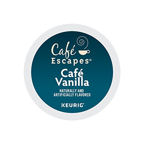 Cafe Escapes Cafe Vanilla Coffee, Keurig K-Cups, 72 Count