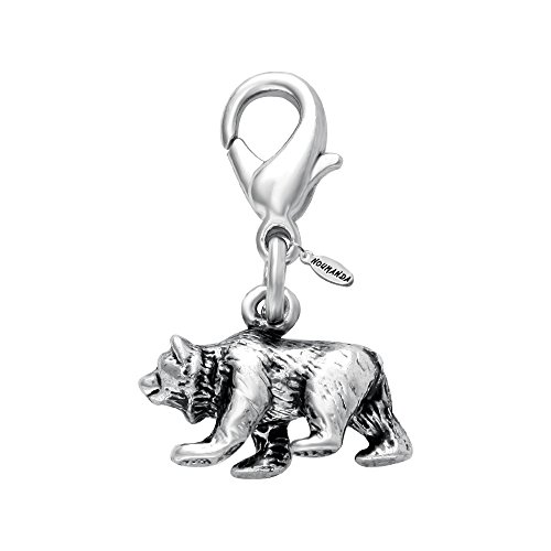 al Jewelry Tiny Polar Bear Charm for Bracelet,Necklace,Keyring (1 Piece) ()