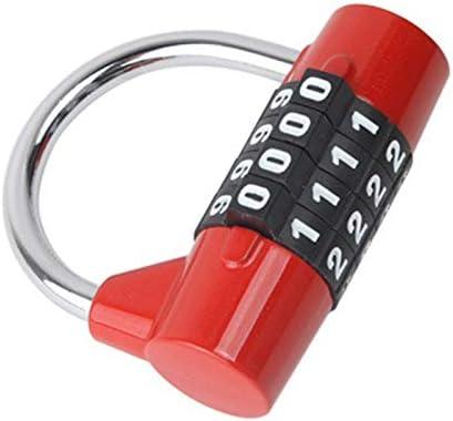 Kamenda Cadenas /à combinaison /à 4 chiffres avec serrure /à code pour placard de voyage Rouge