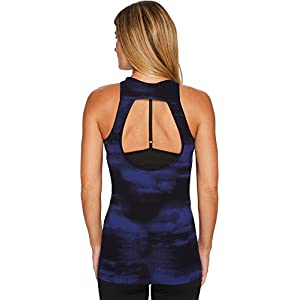 New Balance Women's Printed Open Back Tank Top Frozen Surfaces Small