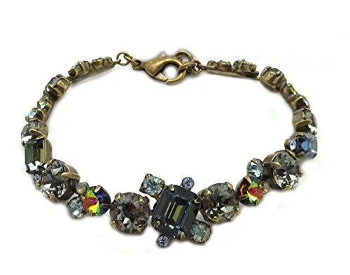 SORRELLI Crystal Patina Blue & Grey Mix Antique Goldtone Crystal Bracelet ()