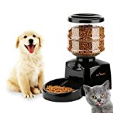 Automatic Pet Feeder Dispenser | 5.5l Large Capacity | LCD Information Display | Voice Recording Function | Non-Toxic | Pet Proof Lock-On Lid | Battery Powered | Programmable |