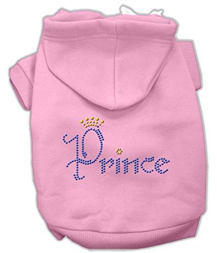 Mirage Pet Products Prince Rhinestone Hoodies, Size 14, Pink