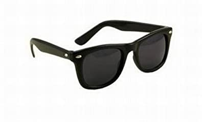 wafers sunglasses  Amazon.com: 80\u0027s Style Vintage Wayfarer Style Sunglasses Black ...