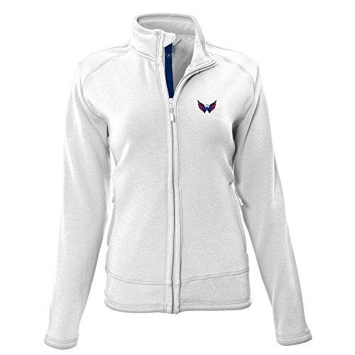 Levelwear LEY9R NHL Washington Capitals Adult Women Tranquil Insignia Icon Heather Full Zip Jacket, X-Large, White