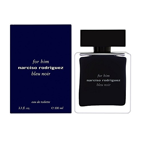 Narciso Rodriguez Him Bleu Noir Eau De Toilette Spray For Men, 3.3 Ounce