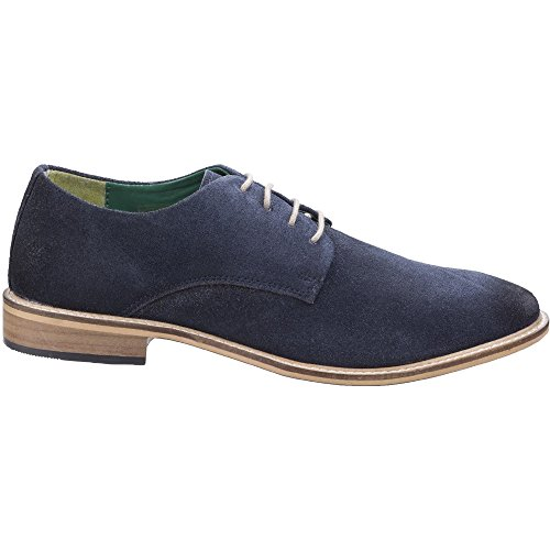 Lambretta Mens Scotts Derby Lace Up Durable Leather Oxford Smart Shoes Navy Suede