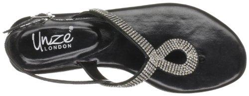 Unze Evening Sandals L18267W - Sandalias para mujer Negro