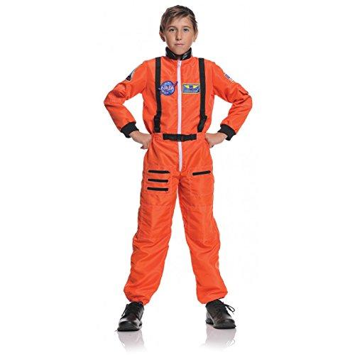Costume Astronaut Ladies (Underwraps Big Boy's Underwraps Boy's Astronaut Costume - Orange, Small Childrens Costume, orange,)