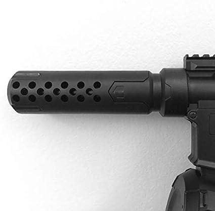Lixia-Qiang, PB Juguetón Bolsa de Gel Bola de la Pistola ETS Corta Fuego Silenciador Bomba de Agua Pistola 1911 Serpiente venenosa 5SCS Accesorios (Color : Negro)