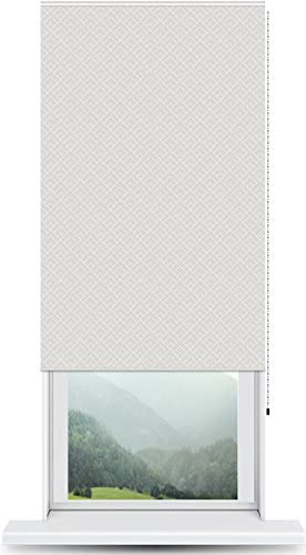 ShadePix Window Shade – Blackout Window Shade with Available in Size 28 x 54 Peaks Modern Pattern Grey