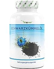 Zwarte Komijn Olie - 420 Capsules - 1000 mg per dagelijkse portie - Egyptisch, Natuurlijk & Koudgeperst - Met Natuurlijke Vitamine E
