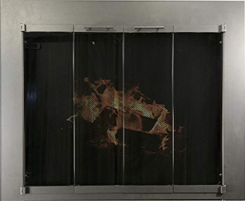 Pilgrim Fireplace Screen Door - Burnished Bronze