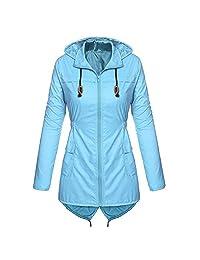 kingf Women's Lightweight Packable Outdoor Coat Hoodies Rain Jacket Overcoat