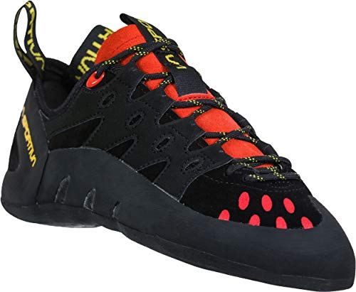 La Sportiva Men's TarantuLace Performance Rock Climbing Shoe, Kiwi/Grey, 42 M EU