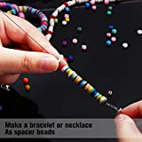 3700 Pieces Polymer Clay Beads Flat Round Spacer