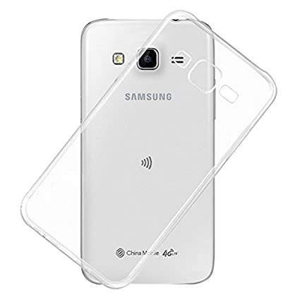 separation shoes 354c6 46c92 JM Soft Silicone TPU Jelly Crystal Clear Back Cover for Samsung Galaxy J7  J700F (Transparent)