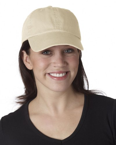 Ultraclub 8102 UC Solid Cotton Cap - Stone - One ()