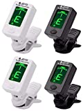 Fangstar Guitar Tuner Clip On Tuner for All Instruments - with Guitar, Bass
