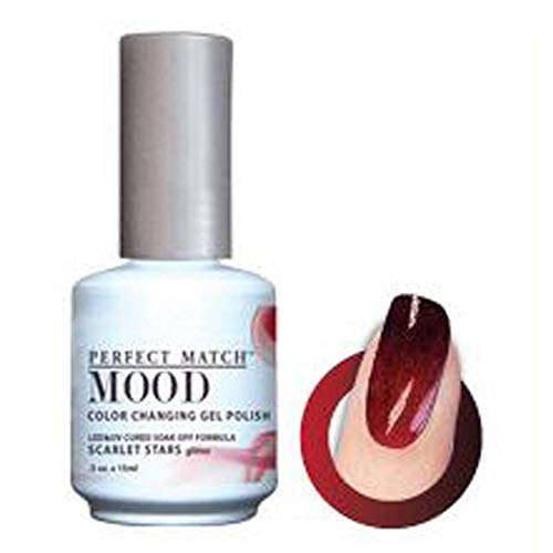 (LECHAT Perfect Match Mood Gel Polish, Scarlet Stars, 0.500 Ounce by LeChat)