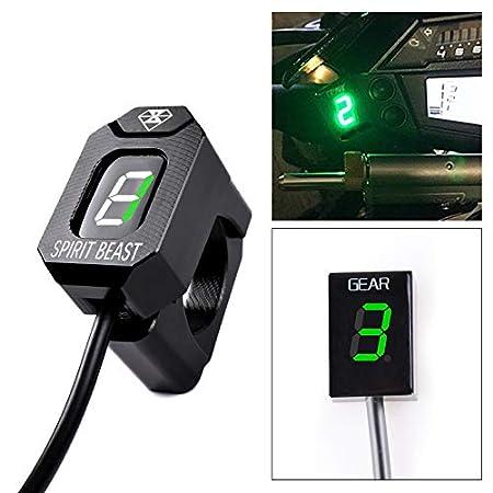 Holder + Red Motorcycle Gear Indicator LED Display Shift Light Waterproof for Honda CB250F 2015 CB300F 2015-2018 Plug /& Play