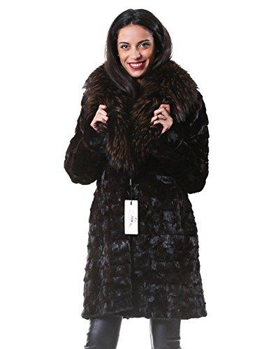 Woman Fur Coat Brown Petals Mink murmasky PELLICCEFUR Neck and ZIFpnxFw