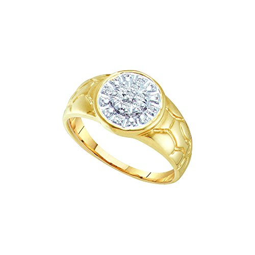 1/8 Total Carat Weight ROUND DIAMOND MENS CLUSTER RING by Jawa Fashion