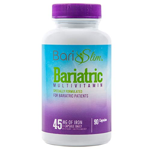 BariSlim Once-A-Day Bariatric Multivitamin w/ Iron - 90 Capsules - Specially Formulated Vitamin for Patients after Weight Loss Surgery (Gastric Bypass, Gastric Sleeve, Roux-en-Y, and Duodenal Switch)