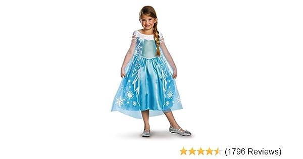 5d94fb050134d Amazon.com: Disney's Frozen Elsa Deluxe Girl's Costume, 4-6X: Toys & Games