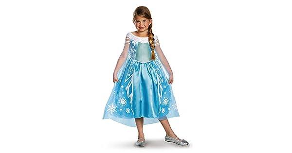 Amazon.com: Disfraz para niñas de Elsa Disney Frozen ...