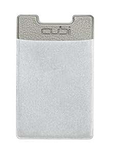CardNinja Ultra-slim Self Adhesive Credit Card Wallet for Smartphones, Steel Grey