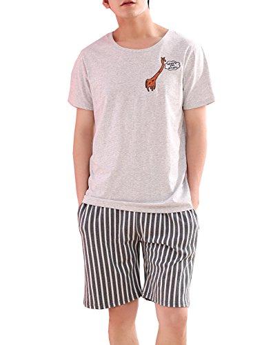 Fashion Teen Boys Top and Shorts PJS Set Loungewear Snug-Fit ()