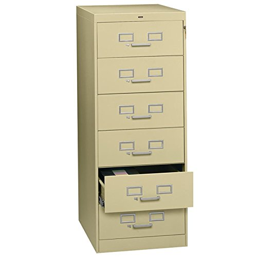 TNNCF669SD - Tennsco File cabinet for 6 x 9 cards - 6 Drawer Cd Cabinet
