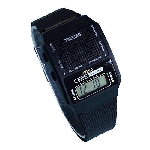 Spanish Talking Watch for The Blind and Elderly Digital Sport Wrist Watch (716US-TE)