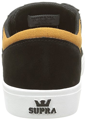 Supra Mens Yorek Low Black / Cathay Spice White