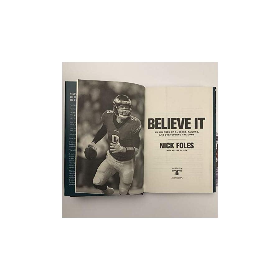 Autographed Signed Nick Foles Philadelphia Eagles Believe It Book JSA Authentic