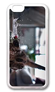 MOKSHOP Adorable funny kitten Soft Case Protective Shell Cell Phone Cover For Apple Iphone 6 (4.7 Inch) - TPU Transparent